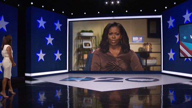 Michelle Obama s čustvenim pozivom Američanom sklenila prvi dan demokratske konvencije (foto: Profimedia)