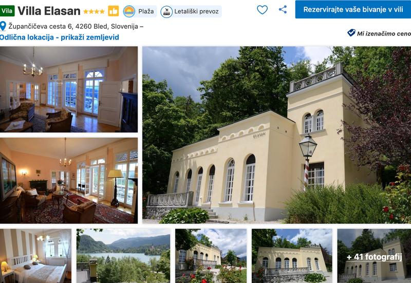 #2 Villa Elasan: Lokacija 250 m stran od blejskega jezera. V starinskem stilu opremljena vila ponuja lep razgled, zasebni vrt in predvsem mirno okolico!