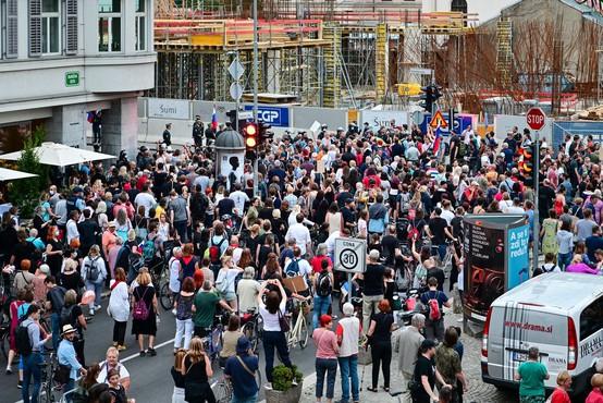 Protest v Ljubljani tokrat proti vmešavanju v policijo