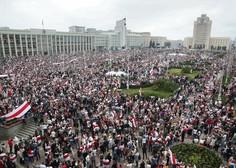 Lukašenkove grožnje očitno ne zaležejo, ulice Minska nabito polne protestnikov