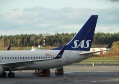 Skandinavska letalska družba SAS zaradi pandemije z globoko izgubo
