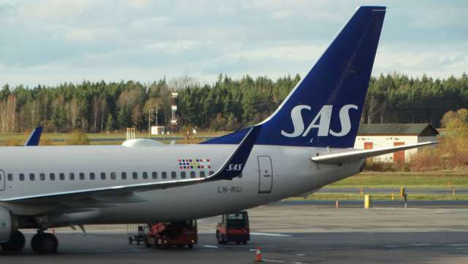 Skandinavska letalska družba SAS zaradi pandemije z globoko izgubo (foto: Aljoša Rehar/STA)