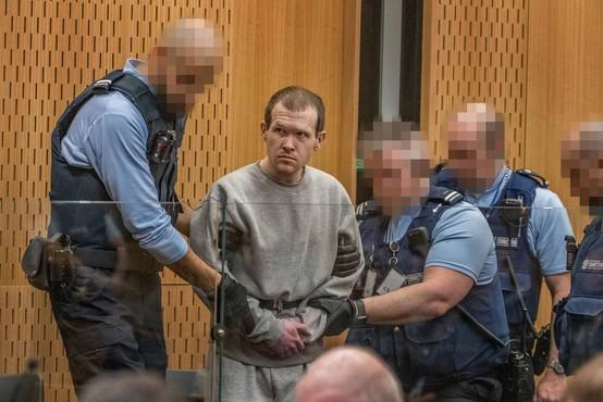 Novozelandci bi terorista iz Christchurcha poslali v avstralsko ječo