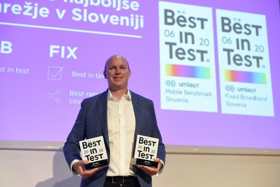 Certifikat za najboljše mobilno in fiksno omrežje je že drugič prejel Telemach