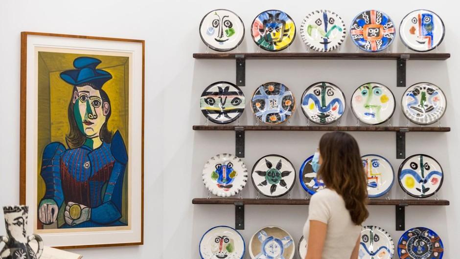 Poustvarjen atelje Pabla Picassa v londonski galeriji (foto: profimedia)