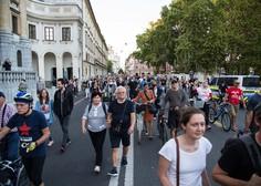 Protestniki spomnili, da ima v Sloveniji oblast ljudstvo