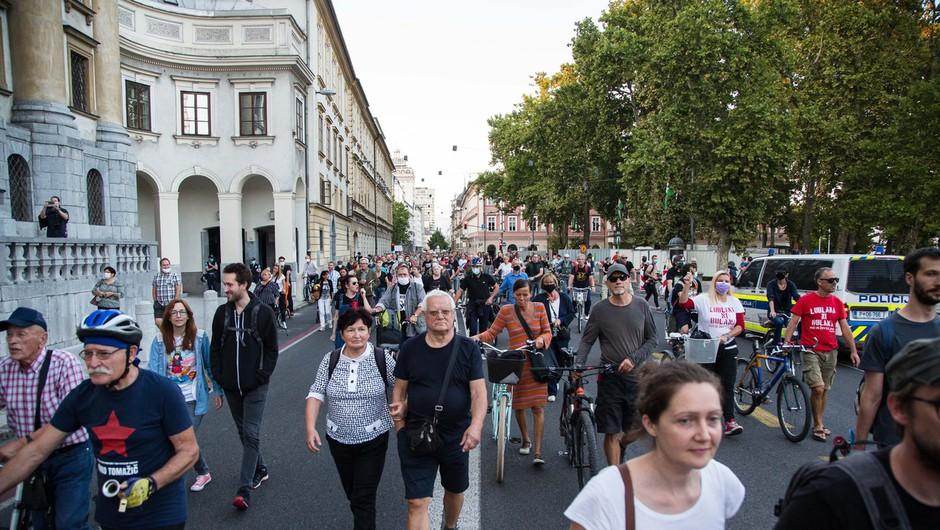 Protestniki spomnili, da ima v Sloveniji oblast ljudstvo (foto: profimedia)