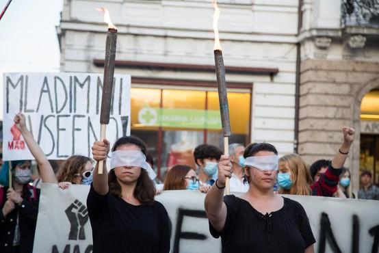 Protestniki v Ljubljani znova opozorili, da ima oblast ljudstvo