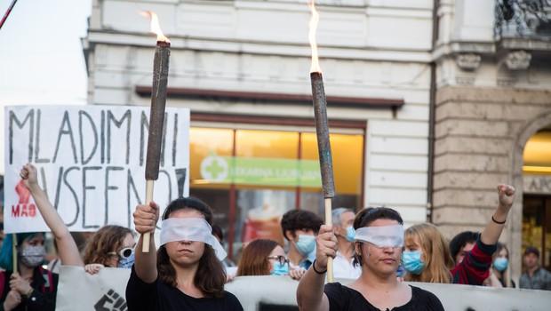 Protestniki v Ljubljani znova opozorili, da ima oblast ljudstvo (foto: profimedia)