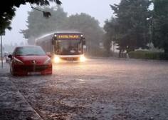 Naliv potopil Reko v nekaj minutah, neurje tudi v Dalmaciji