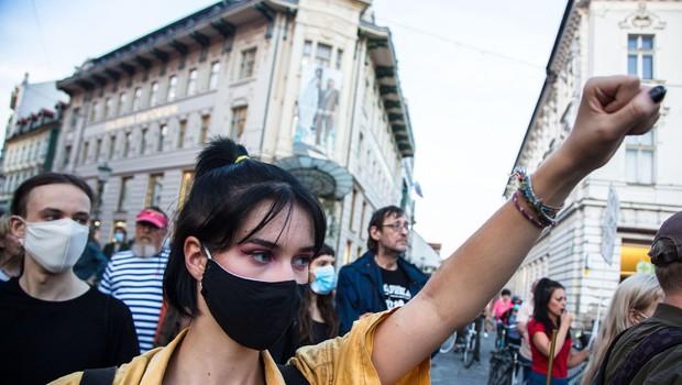 Petkov protest proti privilegijem elit in v podporo Ivanu Galetu (foto: profimedia)