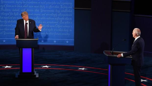 Prvo soočenje Bidna in Trumpa minilo v pomanjkanju reda in discipline (foto: Profimedia)