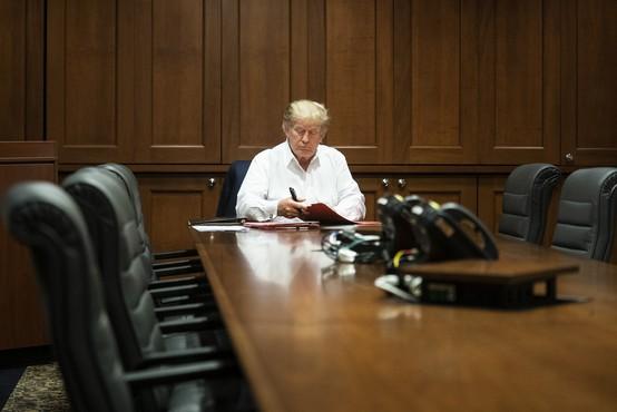 Donald Trump prek družbenega omrežja zagotovil, da mu gre na bolje
