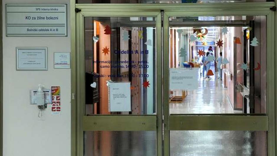 Zaradi več okužb na oddelku za žilne bolezni UKC Ljubljana ne bodo sprejemali novih bolnikov (foto: Tamino Petelinšek/STA)