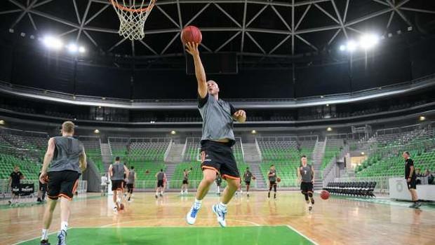 Košarkarji Cedevite Olimpija v desetdnevni karanteni (foto: Nebojša Tejić/STA)
