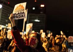 Na protestu v Ljubljani policisti popisovali udeležence
