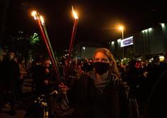 Petkovi protestniki zaradi varnosti znova na kolesih