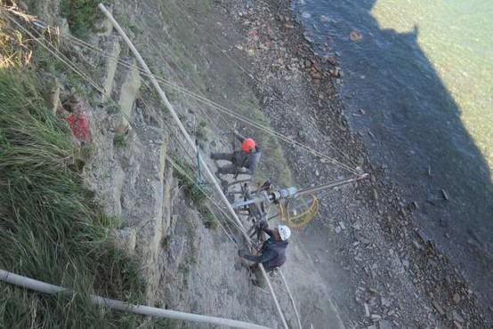 Sanacija klifa pod piranskim župniščem poteka po terminskem načrtu