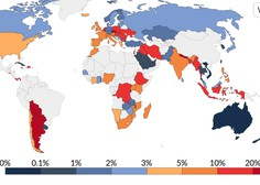 Ker nihče ne ve, koliko je v resnici okuženih, gre države primerjati glede na ODSTOTEK dnevno pozitivnih!