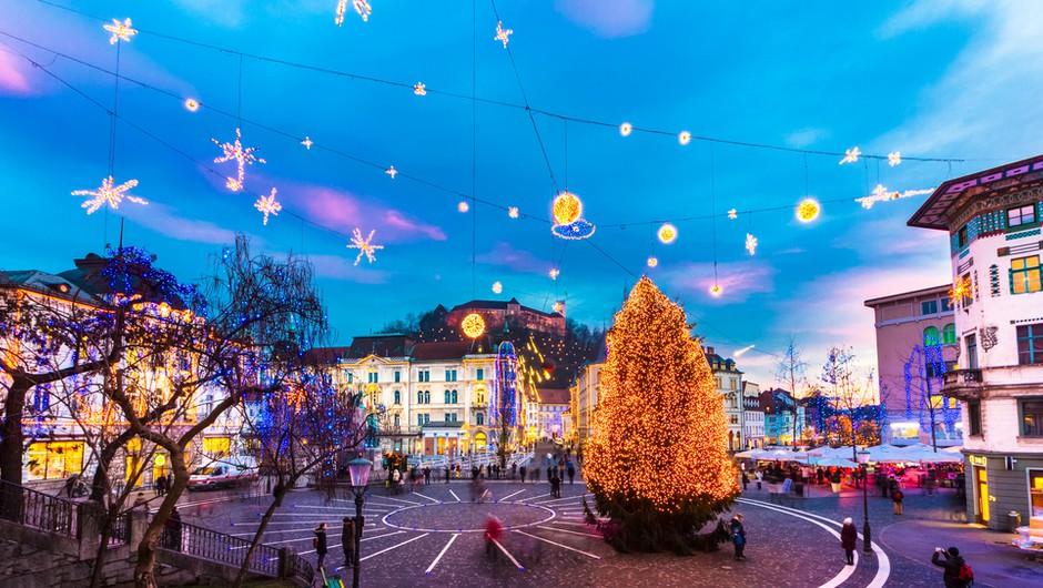 V Ljubljani začeli z okrasitvijo ulic, praznične lučke bodo prižgali 27. novembra (foto: Shutterstock)