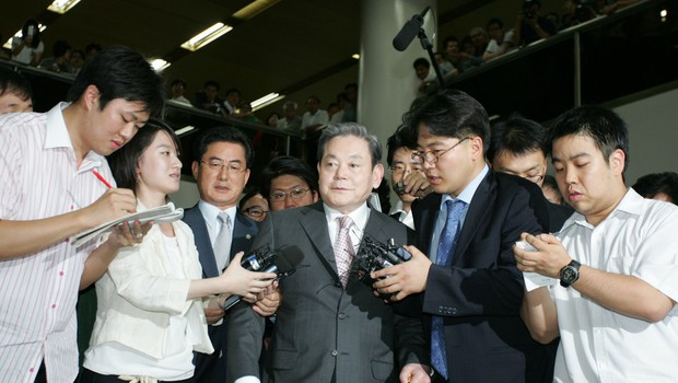 Pri 78 letih se je poslovil karizmatični vodja družbe Samsung Lee Kun-hee (foto: Profimedia)