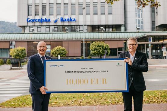 Donacija 10.000 EUR Zavodu za gozdove za razvoj spletne aplikacije in obnovo ter označitev gozdne učne poti