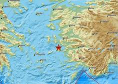 Potres 7. stopnje stresel zahodno obalo Turčije in grških otokov v Egejskem morju