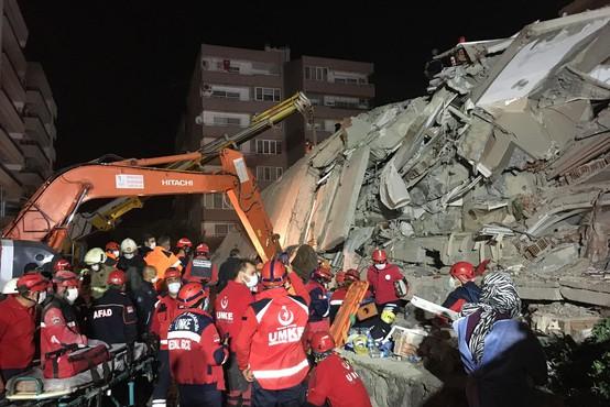 Po potresu v Egejskem morju narašča število žrtev