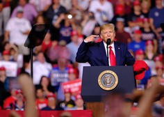 Zadnji dan kampanje Trump z napornim urnikom zborovanj,  demokrati kljub anketam nervozni