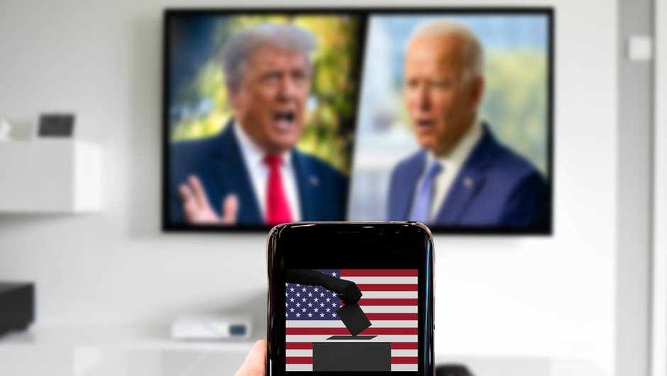Ameriške predsedniške volitve še vedno niso odločene, Biden v rahli prednosti (foto: Shutterstock)