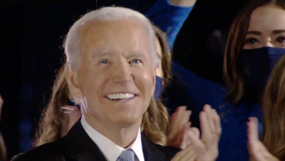Novoizvoljeni predsednik ZDA Joe Biden v nagovoru ob zmagi Američane pozval, naj si dajo priložnost (foto: profimedia)