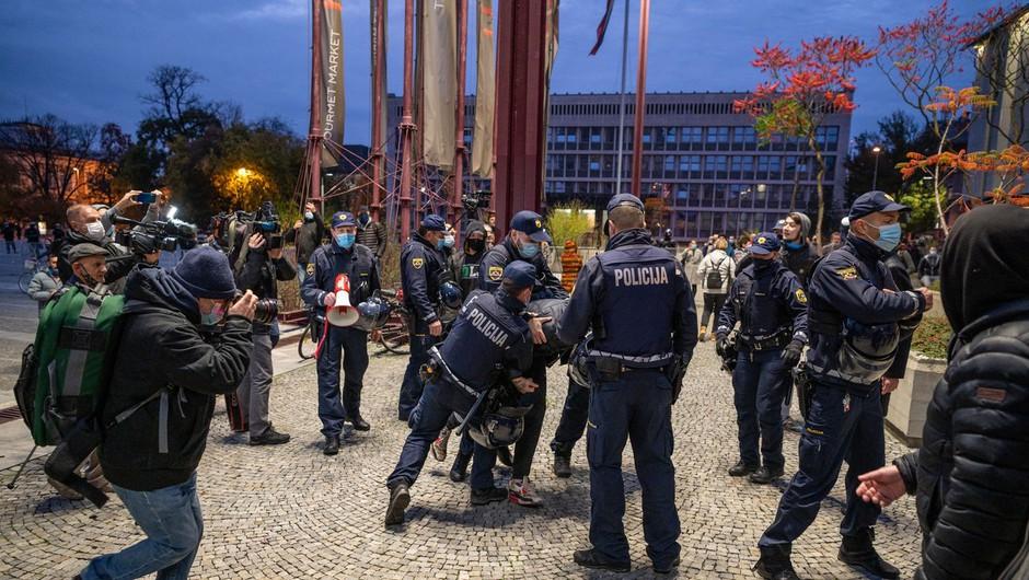 Odbor za notranje zadeve na zaprti seji o ozadju četrtkovega nasilnega protesta (foto: profimedia)