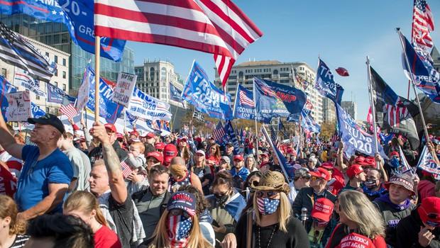 Protest Trumpovih podpornikov na srečo minil z le nekaj osamljenimi incidenti (foto: profimedia)