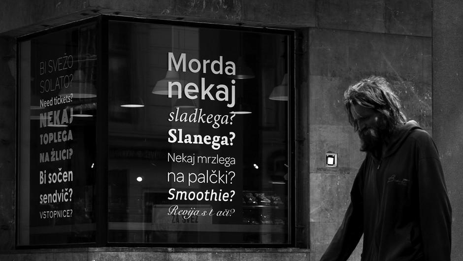 Brezdomec v karanteni (fotografije z mariborskih ulic) (foto: Maja Šivec)
