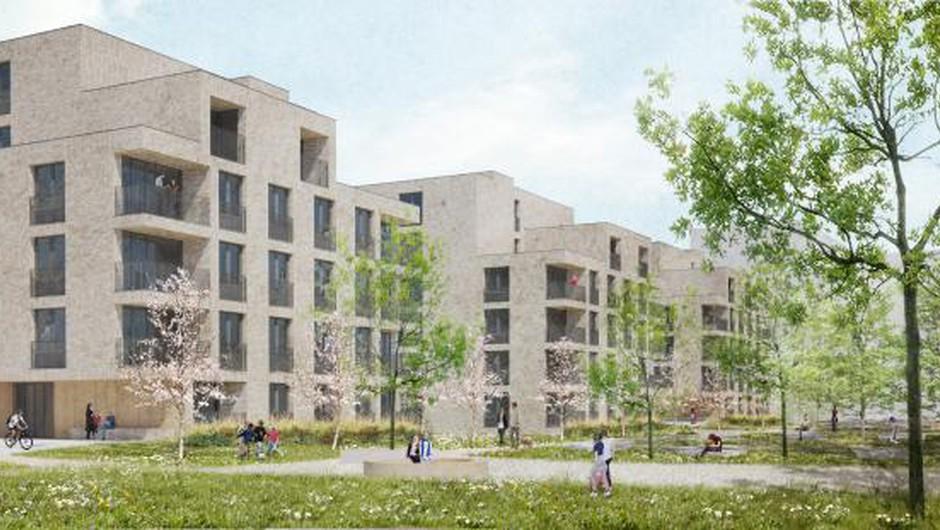 Ljubljanski svetniki podprli gradnjo nove soseske Zvezna, v kateri bo 88 neprofitnih najemnih stanovanj (foto: Gužič Trplan arhitekti)