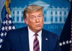 Trump prvič pred novinarji povedal, da bo zapustil Belo hišo, če bo potrjena Bidnova zmaga