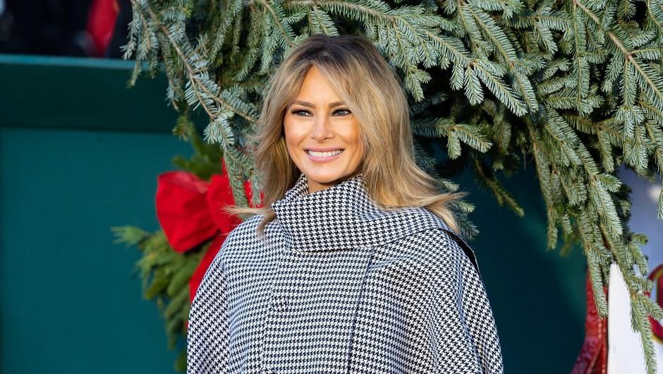"""Melania Trump razkrila svojo zadnjo božično okrasitev Bele hiše, ki ji je dala naslov """"America the Beautiful"""" (video) (foto: Profimedia)"""