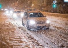 Sredina snežna pošiljka bo obilna, policisti pozivajo k previdnosti