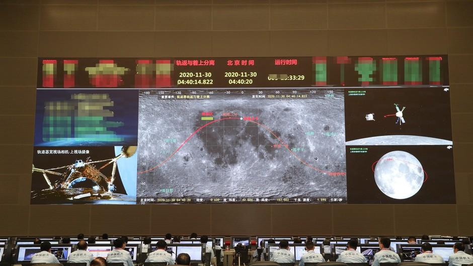 Kitajska sonda pristala na Luni in bo prvič po 44 letih prinesla material na Zemljo (foto: Profimedia)