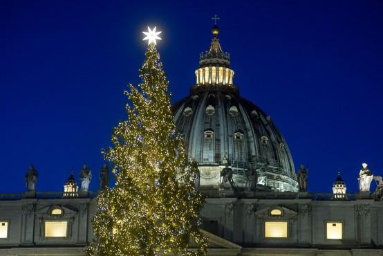 Kako se s preteklimi božičnimi drevesi v Vatikanu primerja slovenska 30-metrska smreka