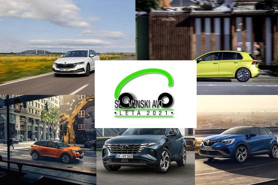 Znani so finalisti za Slovenski avto leta 2021
