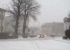 V zahodnem delu države več težav v prometu zaradi sneženja