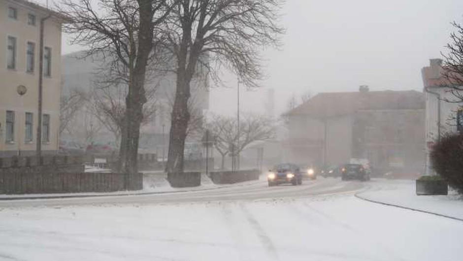 V zahodnem delu države več težav v prometu zaradi sneženja (foto: Rosana Rijavec/STA)
