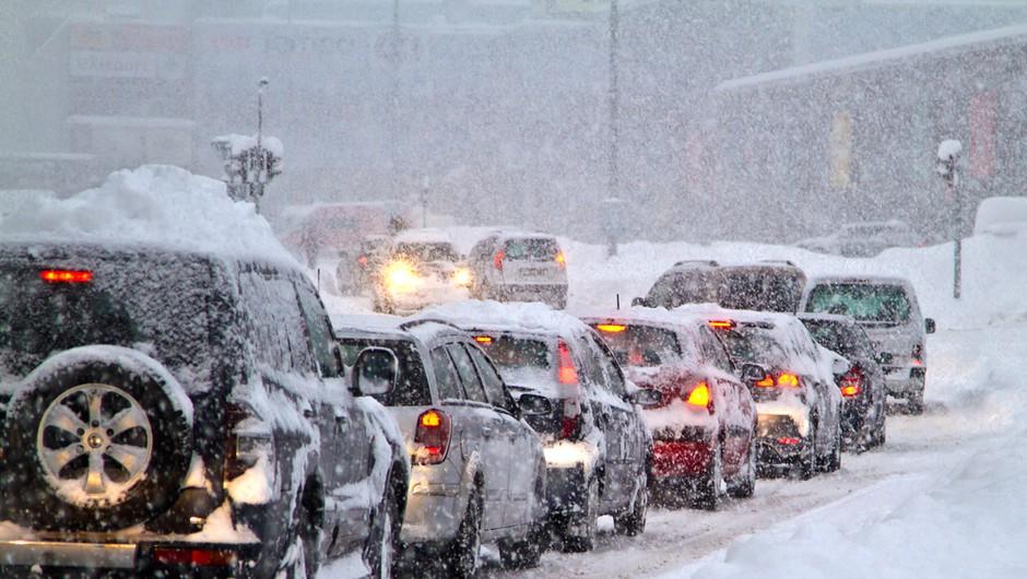 Do četrtka zjutraj lahko zapade več kot 25 centimetrov snega (foto: Shutterstock)
