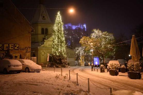 Največ snega je zapadlo na Notranjskem in Kočevskem, v prometu ne poročajo o večjih težavah