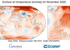 Letošnji november je bil najtoplejši doslej, leto 2020 pa bo verjetno podrlo vse rekorde kot najtoplejše