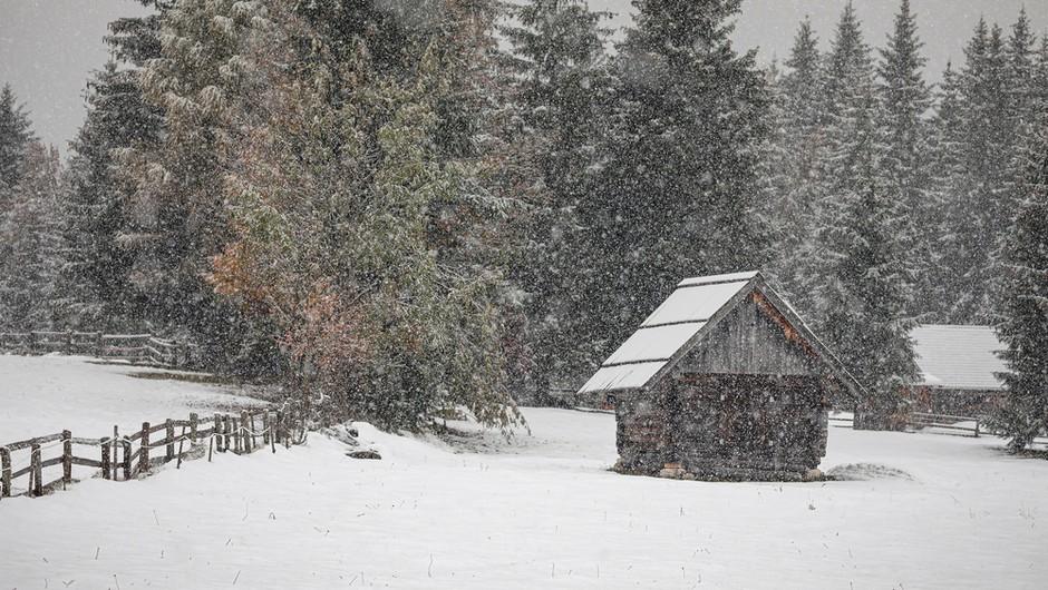 V torek bo ponovno začelo deževati, v visokogorju lahko zapade tudi meter snega (foto: Shutterstock)