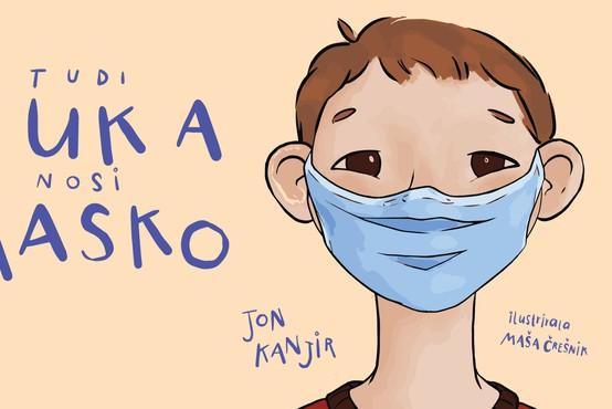 Tudi Luka nosi masko - knjižni prvenec 17-letnega dijaka