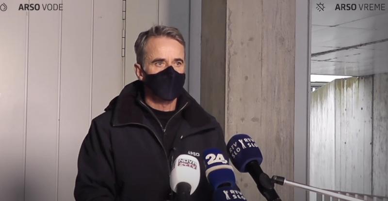 Hidrolog Janez Polajnar z Agencije RS za okolje.