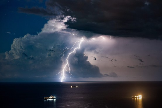 Fotografije in video supercelične nevihte na slovenski obali si je ogledalo že čez milijon uporabnikov na spletu